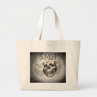 Shaking My Head SMH Skull Large Tote Bag