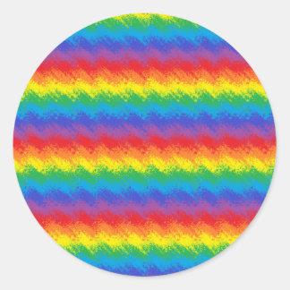 Shaking Rainbow Classic Round Sticker