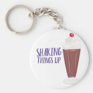 Shaking Up Basic Round Button Keychain