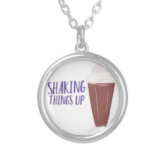 Shaking Up Silver Plated Necklace
