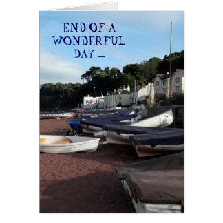 Shaldon, End of a wonderful day -  Birthday card