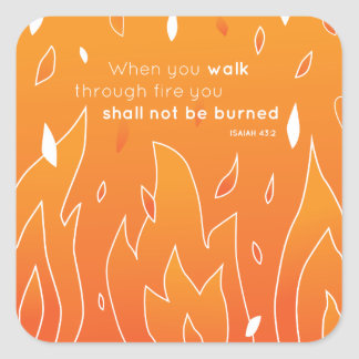 Shall Not Be Burned Square Sticker