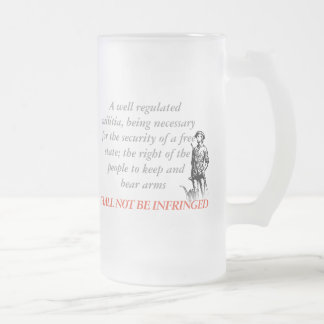 Shall Not Be Infringed Frosted Glass Beer Mug