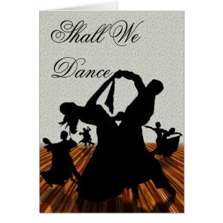 Shall We Dance Card