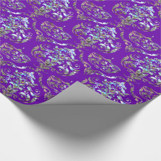 Shalliveye Royal Baroque Damask Elegance Wrapping Paper