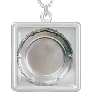Shallow dish, Spanish, 1736 Silver Plated Necklace