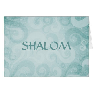 Shalom Blue Swirls Card