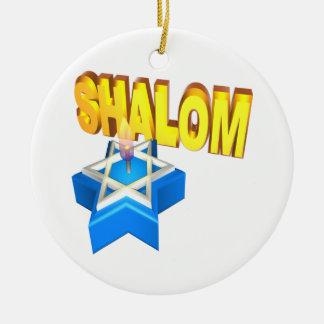 Shalom Ceramic Ornament