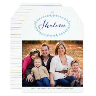 Shalom Hanukkah Photo Card