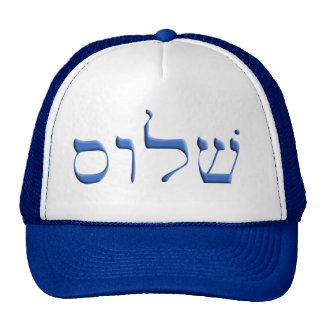 Shalom hebrew trucker hat