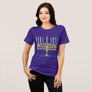 Shalom Menorah Ladies Relaxed Fit T-Shirt