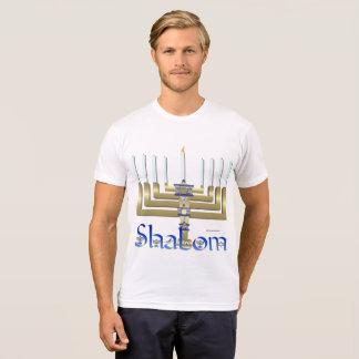 Shalom Menorah Men's Poly-Cotton T-Shirt