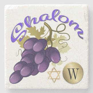Shalom Monogram Stone Coaster