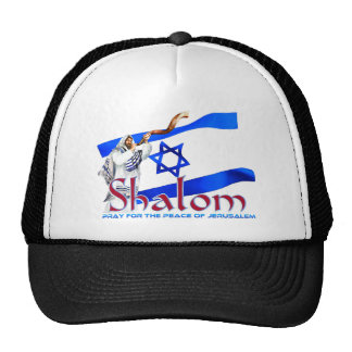 SHALOM Pray for Peace of Jerusalem Trucker Hat