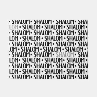 Shalom Repeat Black & Silver Doormat