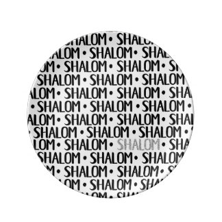 Shalom Repeat Black & Silver Plate