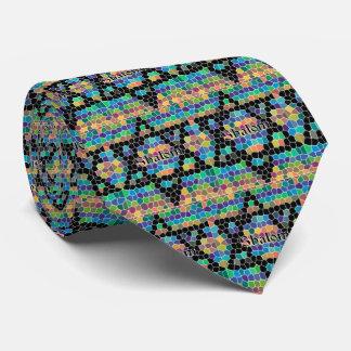 Shalom-Star of David/colorful Tie