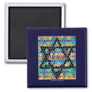 Shalom-Star of David Mosaic-Colorful Magnet