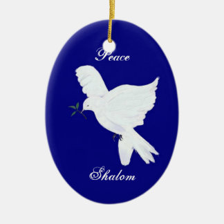Shalom-White Peace Dove Ornament