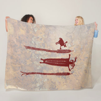 Shaman and Spirit Guides Fleece Blanket