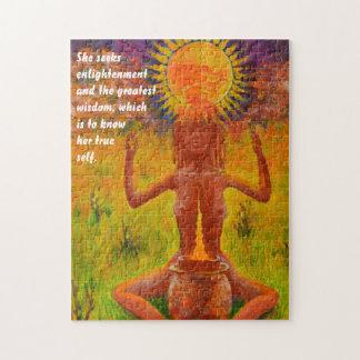 Shaman meditating - Mood Puzzle