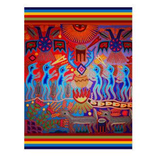 Shaman Ritual Huichol Postcard