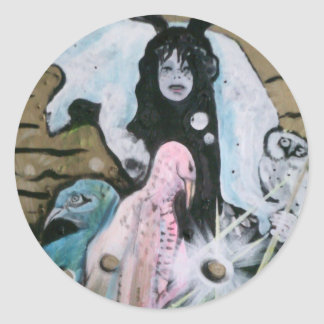 Shaman sticker. round sticker