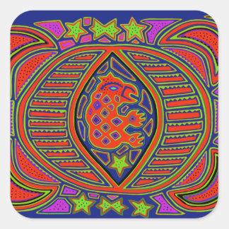 Shaman Turtle Spirit Square Sticker