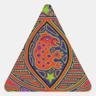 Shaman Turtle Spirit Triangle Sticker