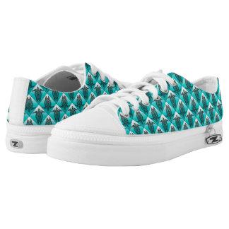 Shamanic Sea Turtles Pattern - cyan Low-Top Sneakers
