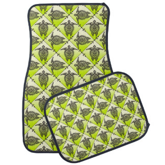 Shamanic Sea Turtles Pattern - green Car Liners