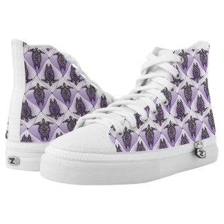 Shamanic Sea Turtles Pattern - violet High Tops