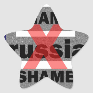 SHAME RUSSIA Dictator Shameful Fear Trouble Insane Star Sticker