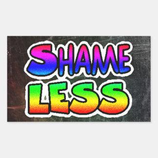 Shameless Graffiti Art Text Stickers