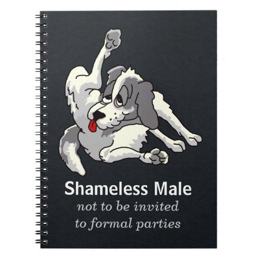 Shameless Male Spiral Note Books