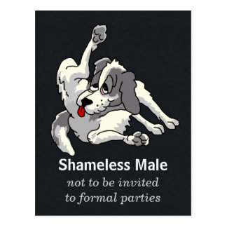 Shameless Male Postcard
