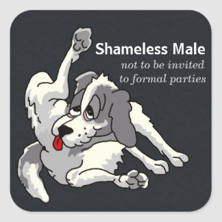 Shameless Male Square Sticker