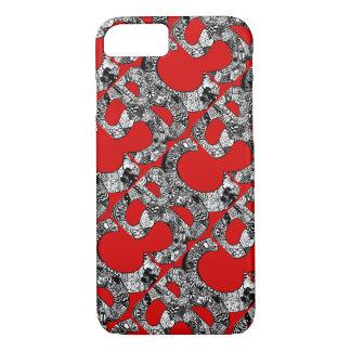 Shameless SBC Doodle Tiled Red by Angela Spencer iPhone 8/7 Case