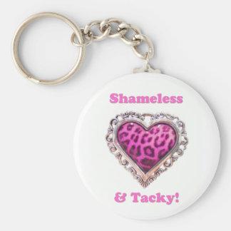 Shameless & Tacky Basic Round Button Keychain