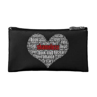 Shameless Word Cloud Heart on Black (C) Cosmetics Bags