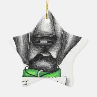Shaming the Dog Black Lab Ceramic Star Ornament
