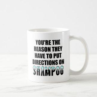 Shampoo Directions Funny Mug