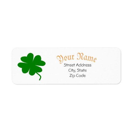 Shamrock Address Labels