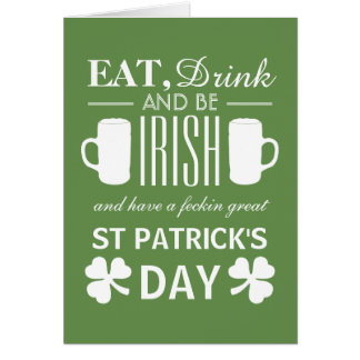 Shamrock and Beer Irish St Patrick's Day Card