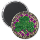 Shamrock And Celtic Knots Magnet Purple