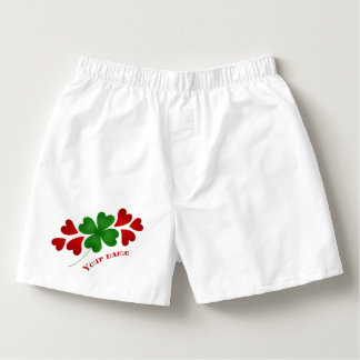 Shamrock and hearts boxers