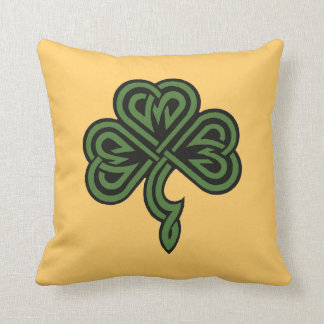 shamrock and irish blessing throw pillow