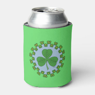 Shamrock and Knotwork Can Cooler