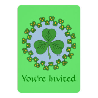 Shamrock and Knotwork Card