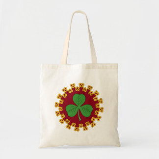 Shamrock and Knotwork on Red